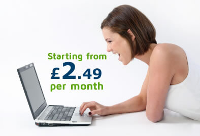 Web hosting UK plans starting from £2.99 per month